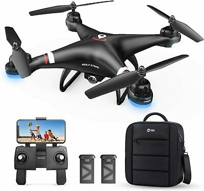 Reverent Stone HS110G FPV GPS Drone with 1080P HD Camera RC Quadcopter 2 Battery Bag
