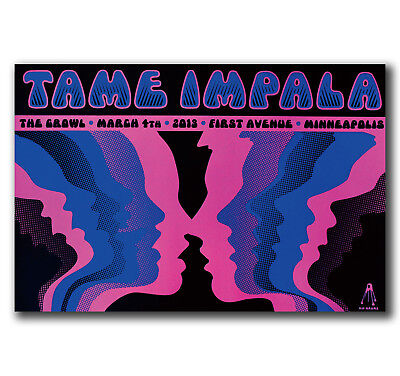E2960 Art Tame Impala Psychedelic Rock Band Poster Hot Gift -24x36 40inch