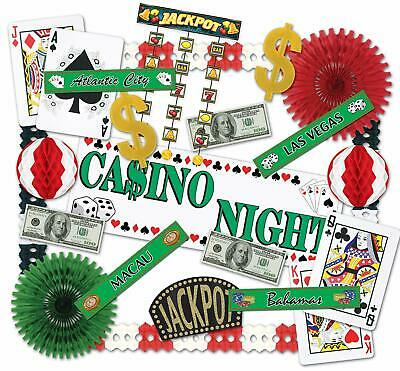 Vegas Party Props (Las Vegas Casino Night Props Kit Beistle 55148 Party Decorations 23 pc -SEE)
