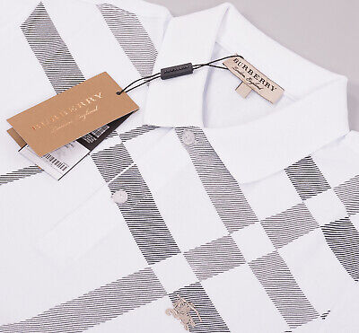 Burberry Cotton Polo Shirt for Men in White