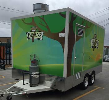 4000 x 2400 x 2200 High Tandem Food Van Trailer