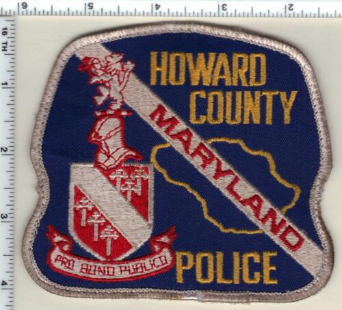 Howard County Police (Maryland) uniform take-off shoulder patch from the 1980