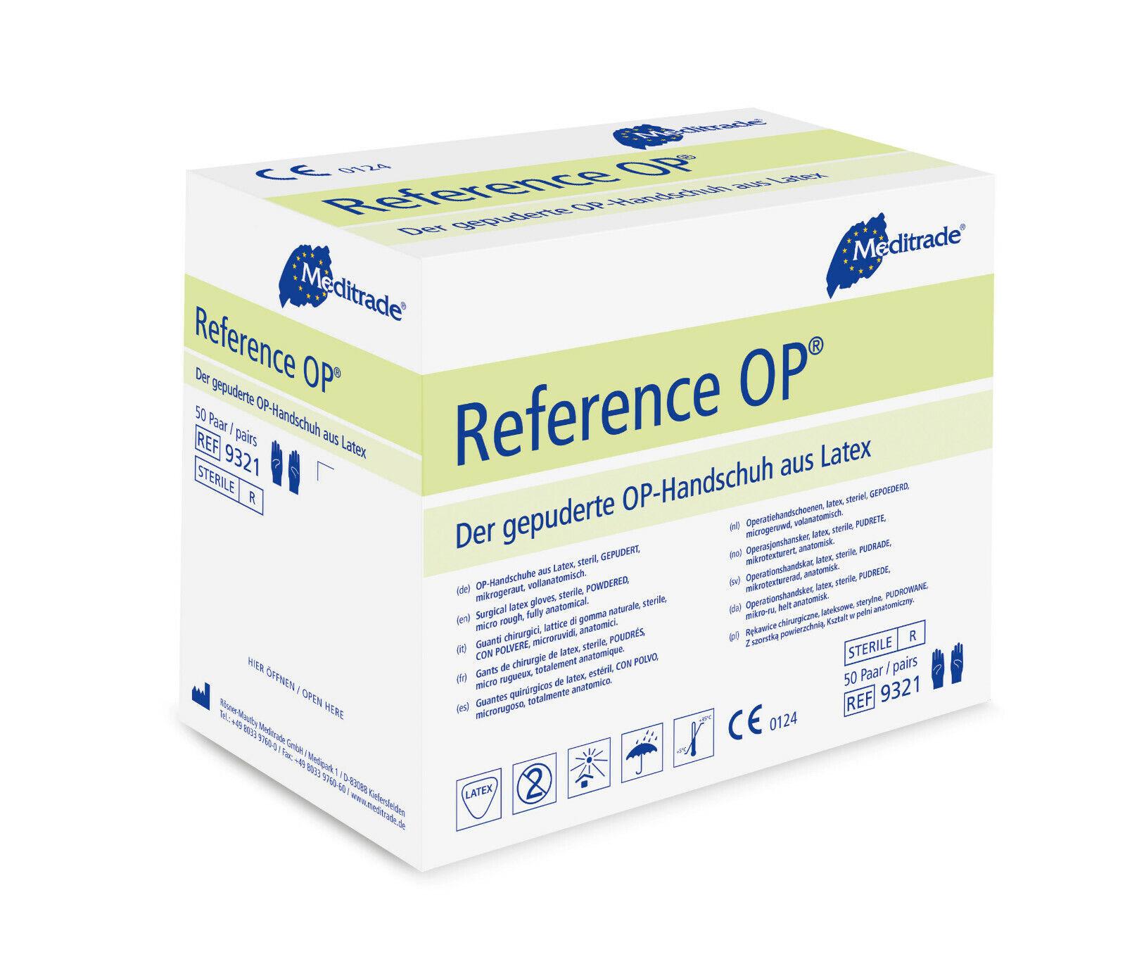 Meditrade Reference OP-Handschuhe steril leicht gepudert Latex Gr. 6 / 7 / 8