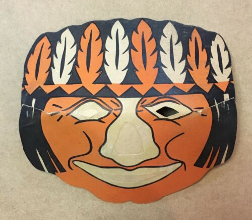 Vintage Halloween Indian Paper Luminous Masklite Mask 50