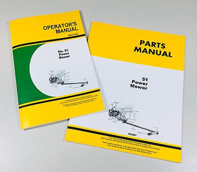 OPERATORS MANUAL PARTS CATALOG SET FOR JOHN DEERE 51 POWER - Parts Catalog Operators Manual