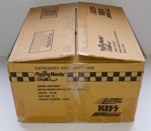 KISS Band Johnny Lightning Diecast Car EMPTY Case Shipping Storage Display Box