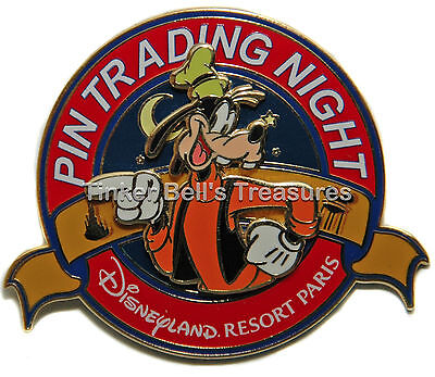DISNEY Pin LE 400 DLP - Goofy - Pin Trading Night Pin - Paris - DLRP
