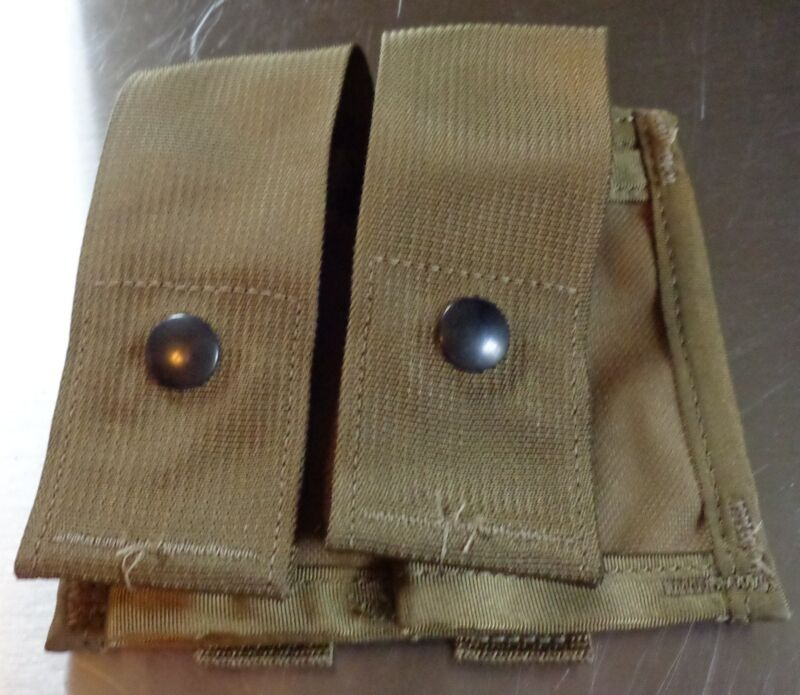 2 Each NEW USMC MOLLE II 40MM  Pocket Double Tan Camouflage Grenade pouches