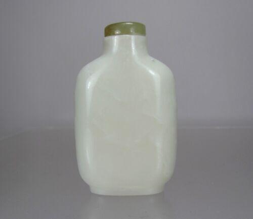 MUTTON-FAT WHITE JADE SNUFF BOTTLE, 19th Century