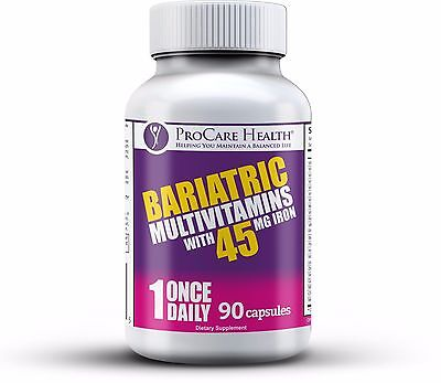 Bariatric Once-A-Day Multivitamin 90 Ct Capsule- Made for Gastric Bypass Sleeve