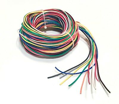 16 Awg Mtw Cable (16 GAUGE AWG WIRE 10 COLORS 25 FT EA PRIMARY STRANDED COPPER POWER REMOTE)