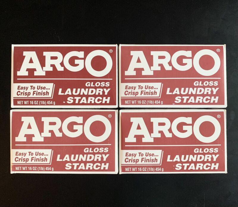 (Lot of 4) ARGO Gloss Laundry Starch Crisp Finish (16 oz) Sealed Boxes Exp 3/21