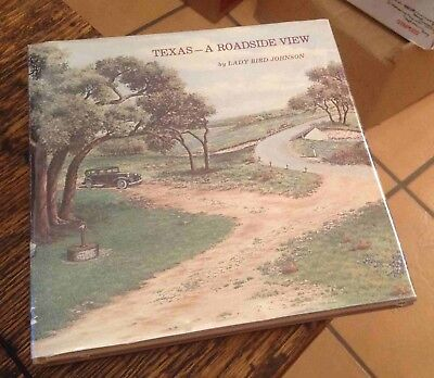 TEXAS A Roadside View LADY BIRD JOHNSON w/ Signed Card 1980 Free US Shipping