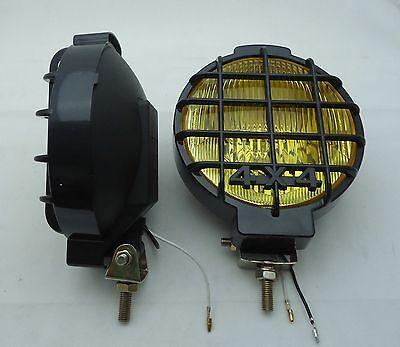 2Pcs  Six Inch  6  Off Road Light Truck Driving Fog  Light Amber Lens