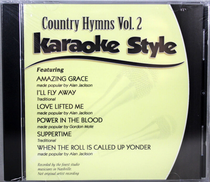 Country Hymns Volume 2 Christian Karaoke Style NEW CD+G Daywind 6 Songs