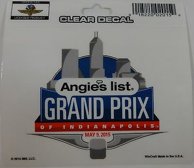 2015 Angies List Grand Prix Of Indianapolis Event Collector Decal New Indy
