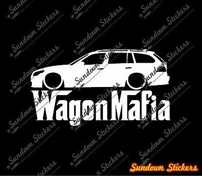 Lowered WAGON MAFIA sticker - for BMW E61 M5 Touring 5-series