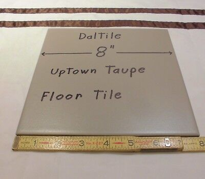 1 pc. *Gray - Taupe* Daltile Ceramic Floor Tile  8