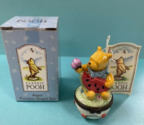 Midwest Cannon Falls Classic Pooh Porcelain Hinged Box PHB August Watermelon