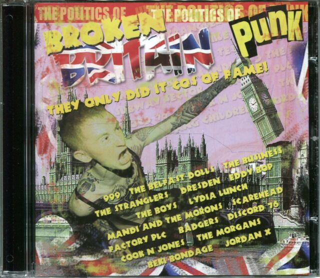 BROKEN BRITAIN - PUNK CD - THE STRANGLERS, EDDY BOP & MORE
