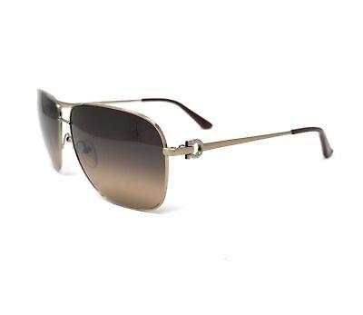 Salvatore Ferragamo Sunglasses SF108S 719 Brushed Gold Rectangle 61x12x135