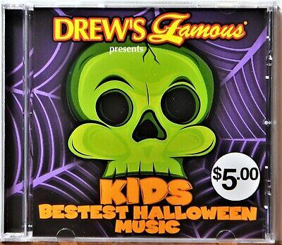 CD Drew's Famous Kids Best Bestest Halloween Music Rare Horror Spooky NICE DISC - Best Halloween Music Cd