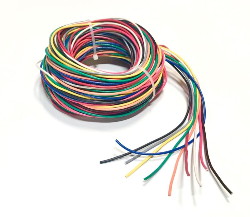 16 GAUGE WIRE 10 COLORS 10 FT EA PRIMARY AWG STRANDED COPPER POWER REMOTE CABLE