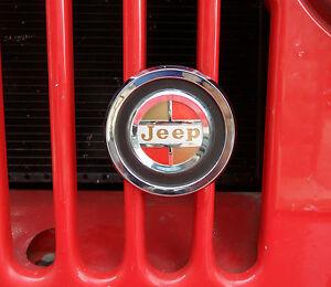 jeepster jeep cj jeep gladiator truck jeep j series wagoneer grill badge. Black Bedroom Furniture Sets. Home Design Ideas