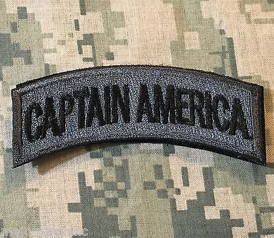 CAPTAIN AMERICA ARMY TAB ROCKER US INFIDEL MORALE ACU DARK HOOK & LOOP PATCH