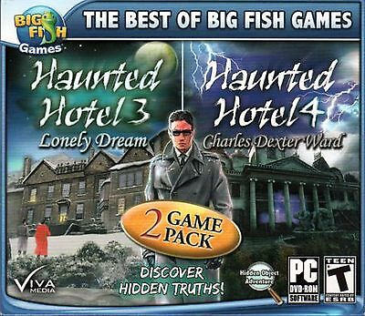 Computer Games - Haunted Hotel 3 & 4 PC Games Window 10 8 7 XP Computer hidden object seek & find