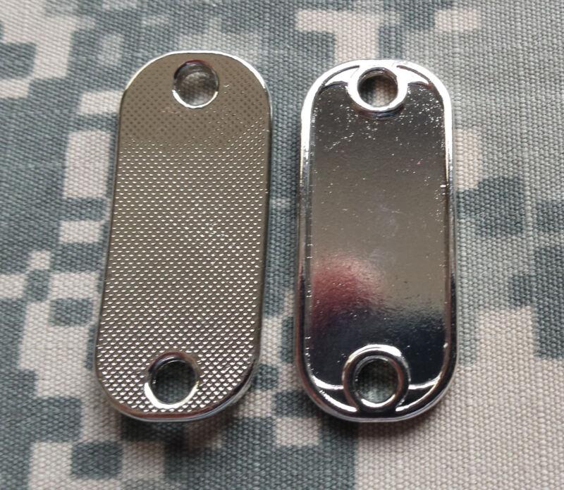 13.5 x 38 mm Blank Dog Tag Style Shoelace Paracord Charm w/ Epoxy Sticker