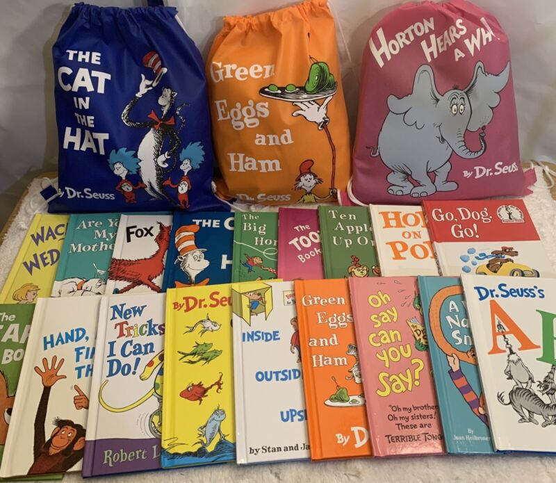 NEW! Dr. SEUSS Lot of 20 Children Kids Learn to I CAN Read Books Cat Hat RANDOM