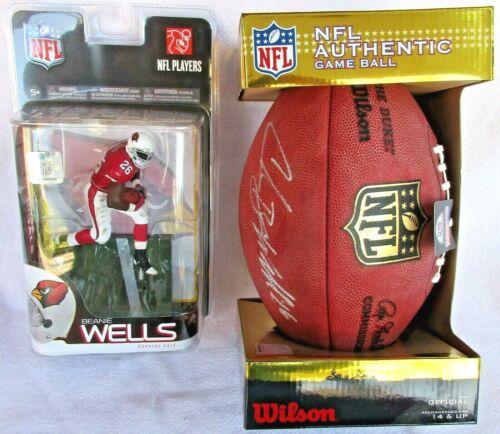 Wilson NFL Authentic Game Ball Official F1100 Autograph Beanie Wells + McFarlane