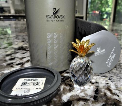 Swarovski Small Gold Pineapple 7507 060 001 012726 Crystal MIB