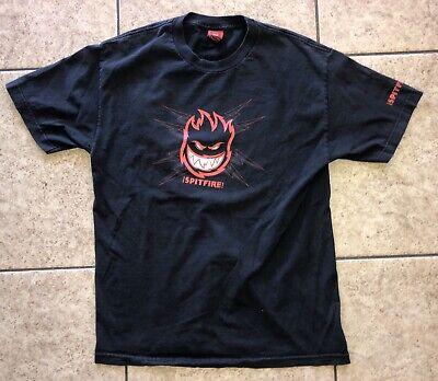 Vintage Spitfire Wheels Skateboarding T-Shirt Men's Black Large
