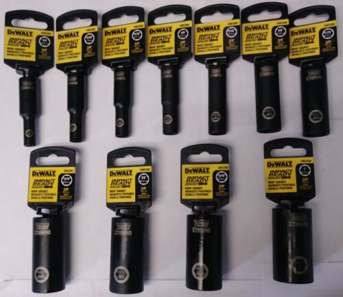 Dewalt DW2281 - DW2294 11 Piece Impact Ready Deep Socket Set
