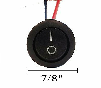 Imc Audio Rrs-2w Single Piece 12v W 8 Lead Wire On Off Round Rocker Switch