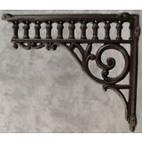 "2 VICTORIAN EASTLAKE CAST IRON 8 ¾"" x 10 ½"" WALL CORNER SHELF BRACKETS"