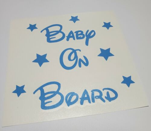 Baby on Board Vinyl Decal ~ Disney Font ~ Blue or Pink