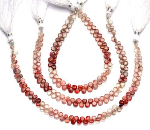"Natural Gem Andesine Labradorite 4.5mm Size Smooth Heart Shape Beads 8"" Strand"