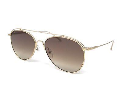 CALVIN KLEIN Sunglasses CK2163S 746 Matte Gold Aviator Unisex 59x16x145
