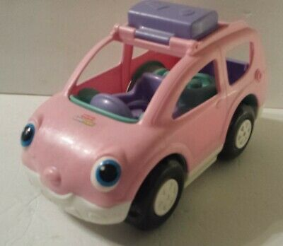 2009 Fisher Price Little People Open Close SUV Mini Van Car ~Musical Sounds