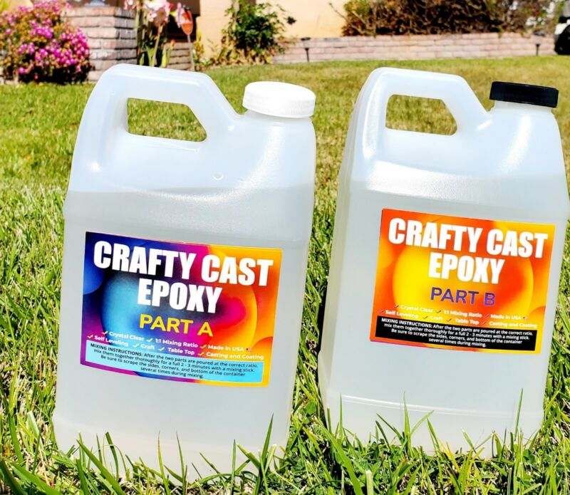 Crafty Cast Super Gloss, Arts and Crafts epoxy resin - 1 Gallon (T…