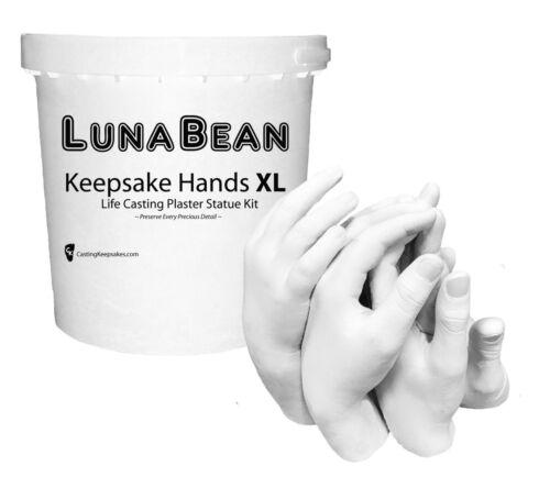 Luna Bean KEEPSAKE HANDS -XL- CASTING KIT Large Plaster Statue Hand Cast Family