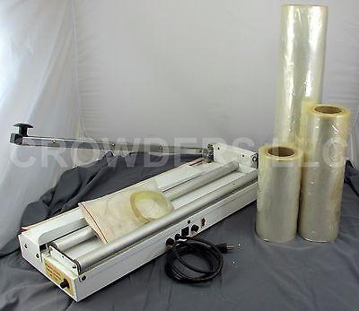 Midwest Pacific Shrink Wrapper Mp-27sw 3x Plastic Film Rolls Heat Gun Oob