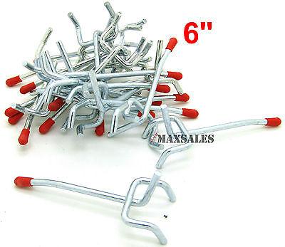 50pc 6 Peg Board Hooks Display Storage Organization