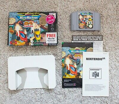 MICRO MACHINES TURBO 64 FOR N64 NINTENDO 64 - COMPLETE