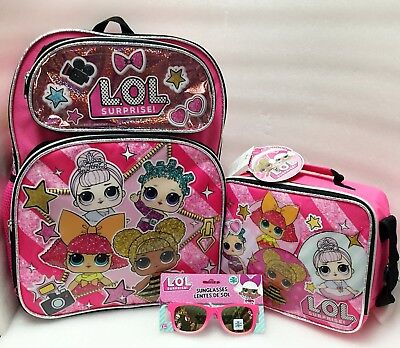 L.O.LSurprise Girls Sunglassess School Book bag Backpack Lunch Box (Backpacking Sunglasses)