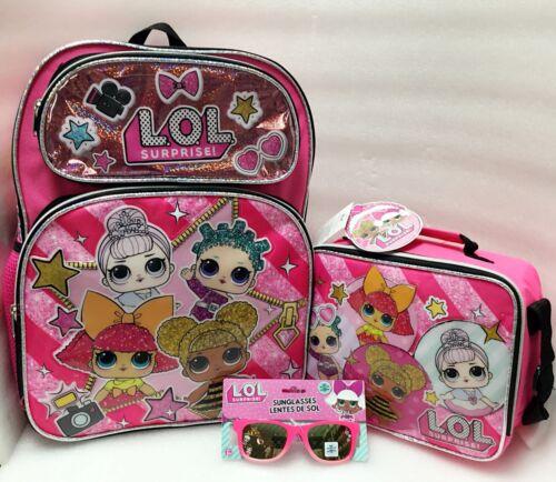 L.O.LSurprise Girls Sunglassess School Book bag Backpack Lunch Box Sunglasses