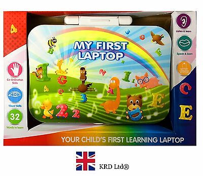 Kids LEARNING LAPTOP Mobile Educational Number Study Game Toy Birthday Gift UK